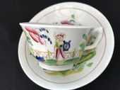 London style cup & saucer wth 'Dolphin' handle